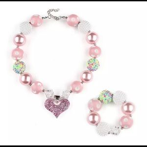 Girls' Necklace & Bracelet Set